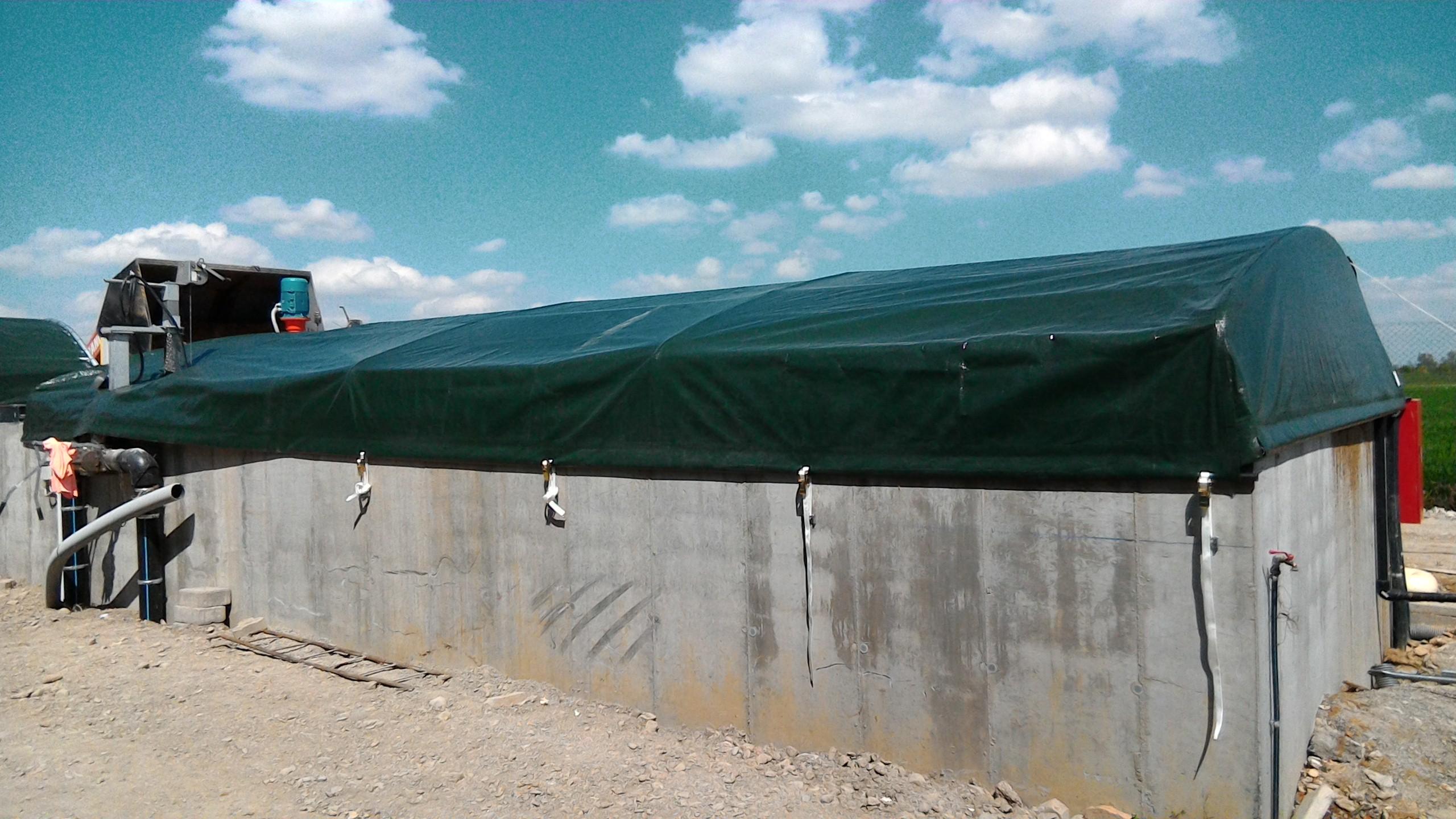 Coperture vasche decantazione for Vasche pvc per laghetti